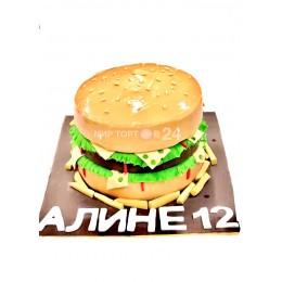 Торт детский в форме гамбургера