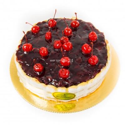 Порадуйте себя и близких вкусным тортом Вишнёвая шарлотка