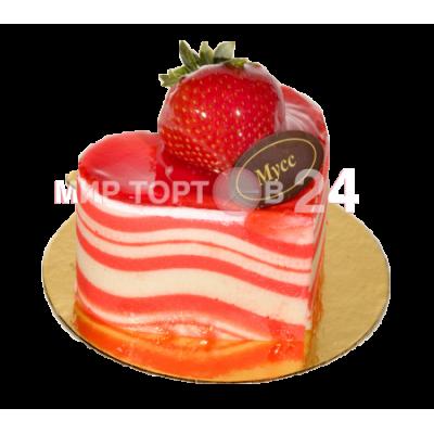 Радуйте себя и близких вкусным пирожным Мусс Клубничное сердце