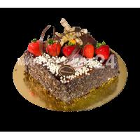 Торт наполеон с карамелью