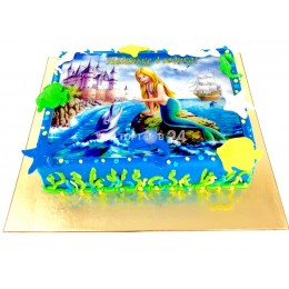 Торт Детский  русалочка и дельфины