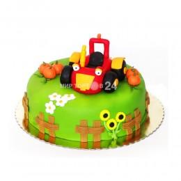 Торт детский трактор