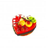Торт мусс клубничное сердце
