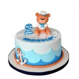 Торт детский Мишка морячок