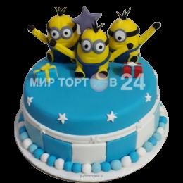 Торт детский Миньоны 1
