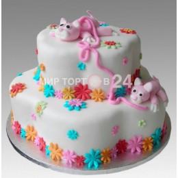 Торт детский свинка