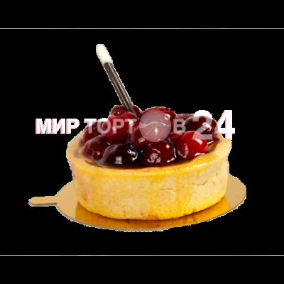 Радуйте себя и близких вкусным пирожным Чизкейк корзина с вишней