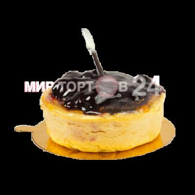 Радуйте себя и близких вкусным пирожным Чизкейк корзина с черникой