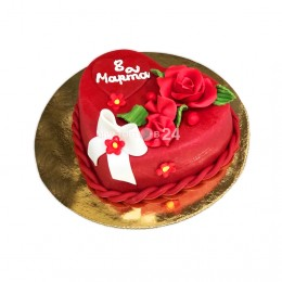 Торт для девушки на 8 марта