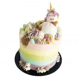 Торт детский Единорог-обжорка