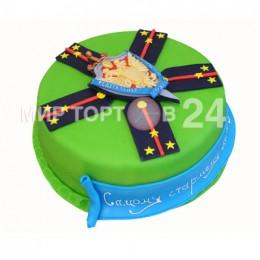 Праздничный торт на 23 февраля