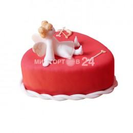 Праздничный торт на день Святого Валентина
