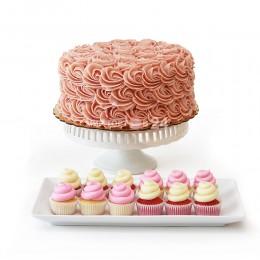 Торт свадебный с капкейками 1