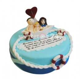 Торт Свадебный на бумажную свадьбу