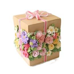 Торт праздничный цветочный сюрприз