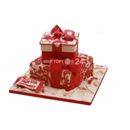Торт Свадебный двойной подарок