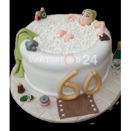 Торт праздничный на 60 лет