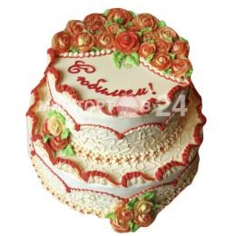 Торт праздничный на юбилей