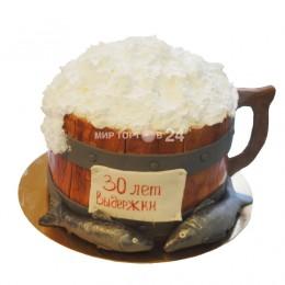 Торт праздничный кружка пива