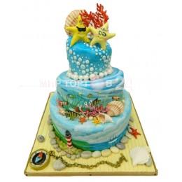 Торт Свадебный морское дно