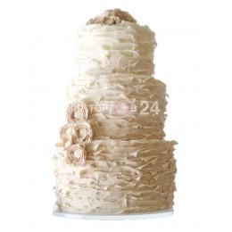 Торт Свадебный белый с кремом