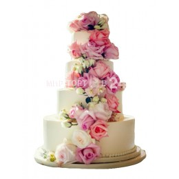 Торт Свадебный Розовый сад