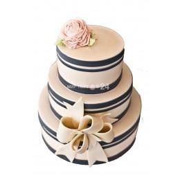 Торт Свадебный черно-белый