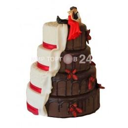 Торт Свадебный сладкие половинки