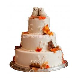 Торт Свадебный Совушки