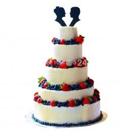 Торт свадебный 07