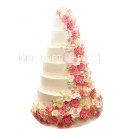 Торт свадебный 73