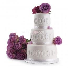 Торт свадебный белый