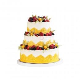 Торт Свадебный бисквитный с ягодами