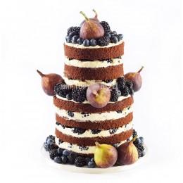 Торт Свадебный с инжиром и ягодами