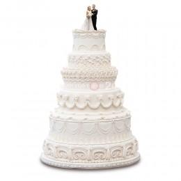 Торт Свадебный белый с узорами