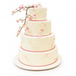 Торт свадебный цветущая сакура
