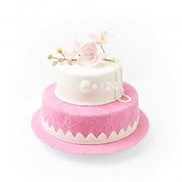 Торт Свадебный цветущая сакура 1