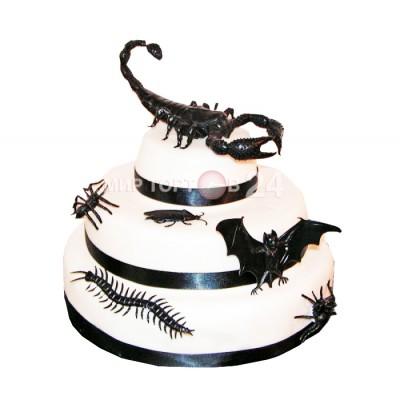 Торт на хэллоуин с скорпионом