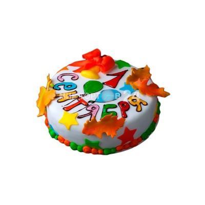 Торт на 1 сентября с листьями