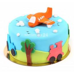 Торт детский Самолетик