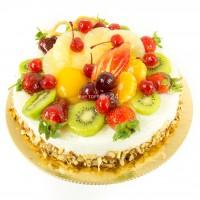 Торт кремчиз с фруктами