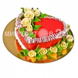 Торт Марципан сердце