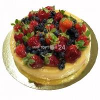 Торт Чизкейк Классический с ягодами