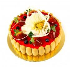 Торт кремчиз клубника