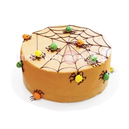Торт на хэллоуин с пауками