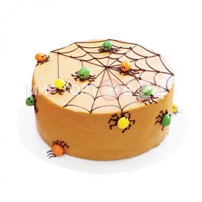 Заказать Торт на хэллоуин с пауками