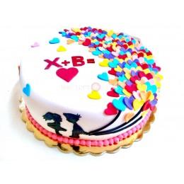 Торт праздничный любимым