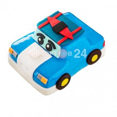Торт голубая машинка