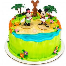 Торт детский с фигурками Микки и Минни