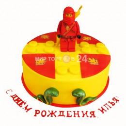Торт детский с красным ниндзей